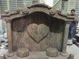 Надгробная плита Headstone индийского сердца гранита Juparana форменный