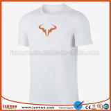 Het nieuwe Comfortabele Embleem drukte Unisex- Duidelijke T-shirt af