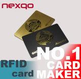 Cartão chave do hotel do baixo preço RFID FM1108/MIFARE 1K para Saflock Kaba que trava o sistema