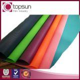 Película tejida del PVC del diseño para la cubierta del papel/de libro