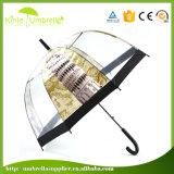 Зонтик изготовленный на заказ печатание высокого качества 21inch прямой прозрачный