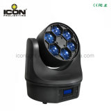 6X15W Mezcla de color RGBW 4en1 Bee Cabezal movible LED luz Haz Diamantes