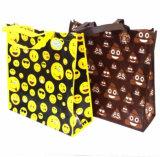 Saco não tecido laminado dos ícones de Emoji do Tote do saco de ombro do saco de compra de Emoji
