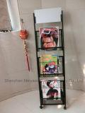 세관 사무소 간단한 광고 물자 선반 지면 서 있는 잡지 책 진열대