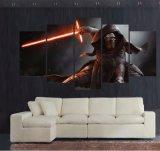 5 el panel HD grande imprimió Kylo de pintura Ren en los cuadros de la decoración del hogar del arte de la impresión de la lona de la película de Star Wars para la sala de estar