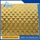 ステンレス鋼の浮彫りにされた装飾的な版のサイズのダイヤモンドチェック模様のパターン