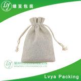 Fördernder Zoll bereiten kleinen Drawstring auf, den organischer Baumwollsegeltuch-Beutel für Geschenk tragen