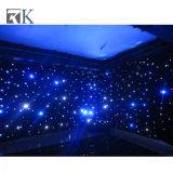 O contexto Twinkling de pano da estrela do diodo emissor de luz da cortina drapeja a decoração do casamento