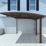 Carport di alluminio del parasole del policarbonato del blocco per grafici di disegno moderno