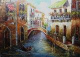 ナイフの絵画ベニスの景色の油絵