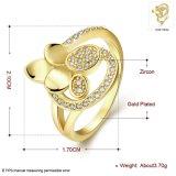9K de goud Geplateerde Ring van de Legering van de Vorm van de Bloem voor de Juwelen van het Ontwerp van de Manier van Meisjes
