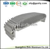 Novo Design Anodize Extrusão em alumínio prateado para o dissipador de calor