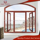 Marco de la doble vidriera del perfil/toldo/ventana de aluminio de la vuelta de la inclinación con diseño del arco