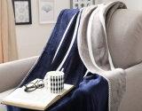 2plyフランネル毛布100%年のポリエステル300g