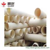 배수장치를 위한 큰 반지 뻣뻣함 PVC-U 플라스틱 관통되는 물결 모양 관