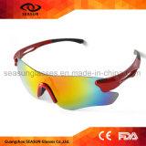 Солнечные очки спортов белого волейбола пляжа зрения UV400 способа большого защитного задействуя