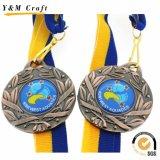 Medaglia su ordinazione poco costosa di Trophie di sport del metallo del premio di funzionamento del fornitore della Cina