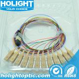 Cable de fibra óptica para el 12 de Core MPO a LC