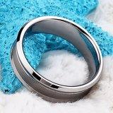 De hete Ring van het Carbide van het Wolfram van de Juwelen van de Verkoop Goedkope In het groot voor Inlegsel