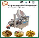 Friggitrice del Vigna del gas del fungo Heated della melanzana e del fagiolo verde e macchina di frittura