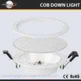 Gran cantidad de lúmenes cuadrada o redonda 2835 empotrables LED SMD LED 18W luz del panel de techo con difusor de vidrio