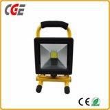 Al aire libre alimentados de batería portátil 10W/20W/30W de Proyectores LED recargable
