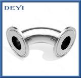 Conexão do Tubo de Aço Inoxidável sanitárias curvas apertadas Cotovelo de acoplamento com a norma DIN/SMS (DY-015)