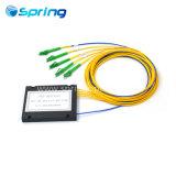 De Fibra Óptica FTTH LC APC 1*4 Caja de ABS PLC Splitter