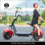 Vespa eléctrica barata de la batería de la moto 60V del estilo al por mayor de 25km/H Citycoco Harley