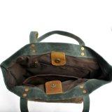 Новая конструкция водостойкий холст дамы в сумку для женщин из натуральной кожи Crazy Horse брелоки сумки (RS-62250-P)