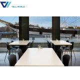現代デザインレストランのチェアーテーブルのカフェテリア表