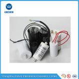 Cbb60 Condensateur de moteur de ventilateur à courant alternatif (colonne, boîtier en plastique)