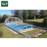 Couverture de piscine escamotable vertical avec cadre en alliage en aluminium