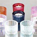 Jarra de vidro suporte para velas para as Tealight Votive e