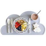 Силикон Placemat/Non-Slip силикон Placemat/Food-Grade циновка Cornflower формы облака силикона