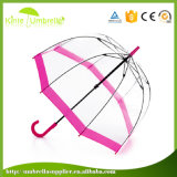 Preiswerter transparenter Großhandelsregenschirm, freies Unbrella