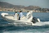 Liya 5.2mの膨脹可能な肋骨のボートのガラス繊維の堅く膨脹可能なボート