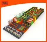 Nuevo Diseño Interior para niños Parque de trampolín, Bungee Jumping cama elástica con red de seguridad