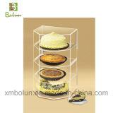Cas d'exposition acrylique de gâteau de première vente contemporaine