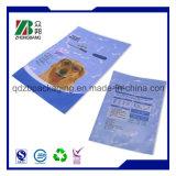 Sacchetto personalizzato di imballaggio di plastica di stampa con la chiusura lampo