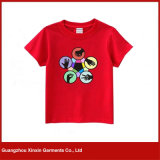 T-shirts 100% ordinaires en gros de coton de blanc pour les hommes (R109)