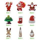 De vrolijke Flits USB van pvc van de Douane van de Aandrijving van de Flits USB van de Kerstboom van de Kerstman van de Gift van de Bevordering van het Nieuwjaar van Kerstmis Gelukkige