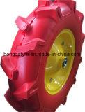 Roda livre lisa de 16 polegadas com a borda do metal para a roda 4.00-8 de Wheelbarrow/PU