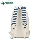 Beiläufige Segeltuch-Streifenbildung große Multi-Tasche wasserdichter Schule-Rucksack-Großverkauf