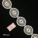 lacet rond de garniture de fleur de maille de 4cm Guangdong, belle sortie d'usine de bande Hme892