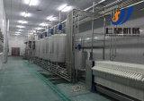 A linha de produção de leite aromatizado