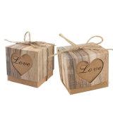 Packpapier-Kissen-Bevorzugungs-Süßigkeit schachtelt Geschenk-Kasten-Hochzeitsfest-verpackenkasten