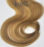 Combinação de qualidade superior do clipe de 18 polegadas a cores na extensão de cabelo humano