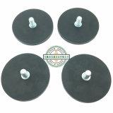 Сильные резиновый магнитные основание/магниты с резьбой штангой (D22, D43, D66, D88)