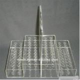 Clip à plume unique acrylique en plastique fait sur commande de support
